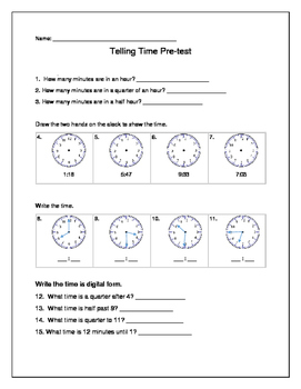 Time Pre-test/Post-test