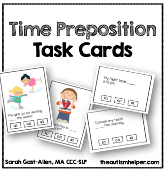 Time Preposition Task Cards