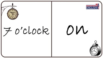 Time Prepositions Domino