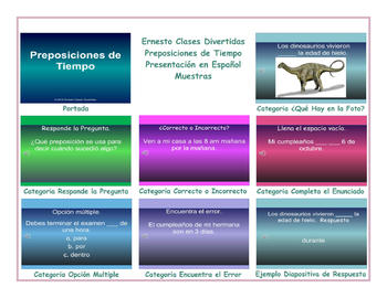 Time Prepositions Spanish PowerPoint Presentation