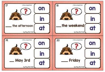 ESL TASK CARDS: Time Prepositions