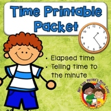 Telling Time to the Minute and Elapsed Time