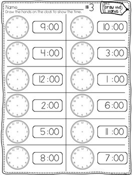 Time Printables: Hour & Half Hour {Homework, Seat Work, and More!}