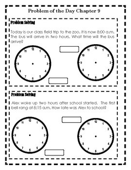 Problem of the Day Chapter 9 (Time,Measurement,Money)