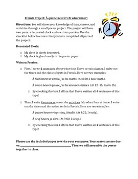 Time Project for French Beginners