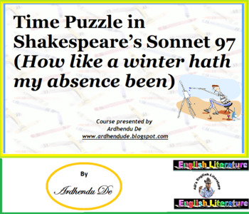 Time Puzzle in Shakespeare's Sonnet 97 (How like a winter