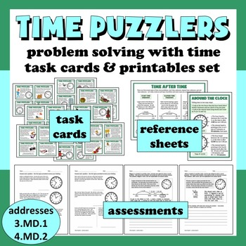 Time Puzzlers - solving problems with time task cards + pr