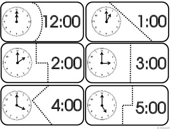 Time Puzzles 1 Show Hour and Half Hour  Practice Clock Included