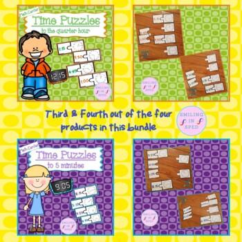 Time Puzzles BUNDLE!- Math Centers