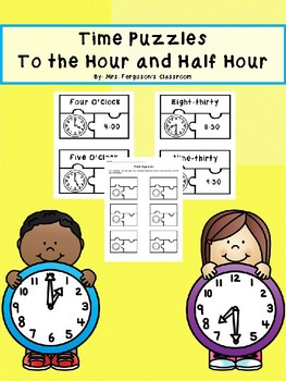 Time Puzzles - Hour and Half Hour