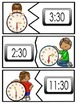 Time Puzzles -Hour and Half Hour- Reading Clocks