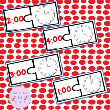 Time Puzzles to the Hour- Math Center
