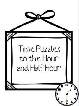 Time Puzzles to the Hour and Half Hour