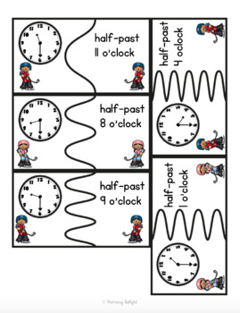 Time Puzzles with Words: O'clock, Half-Past, Quarter To, Quarter Past