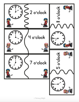 {FREE} Time Puzzles with Words: O'clock, Half-Past, Quarter To, Quarter Past