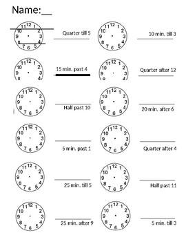 Time (Quarter Till & Half Past)