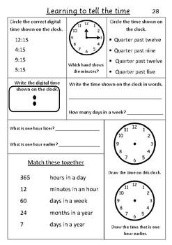 Time Quarter past - Pack 3