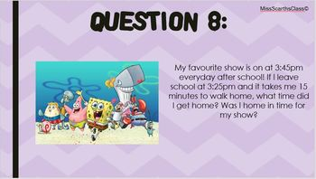 Time Quiz - Year 3 & 4