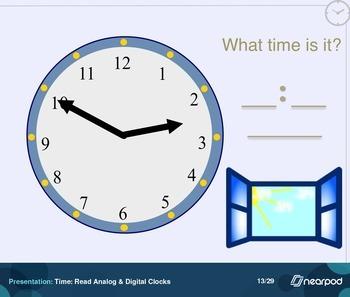 Time: Read Analog & Digital Clocks