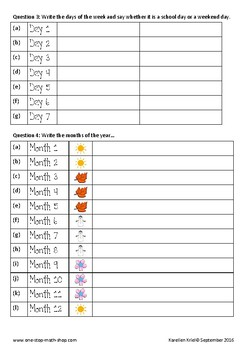 Time and Duration (Grade 3)
