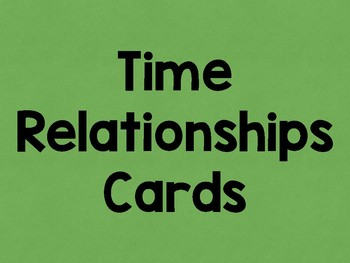 Time Relationships Activity