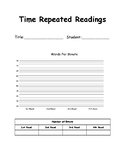Time Repeated Reading Chart