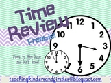Time Review Morning Work Freebie