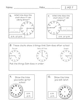 Time Review and Assessment - FREEBIE