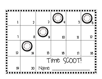 Time SCOOT! (Hour and Half Hour)