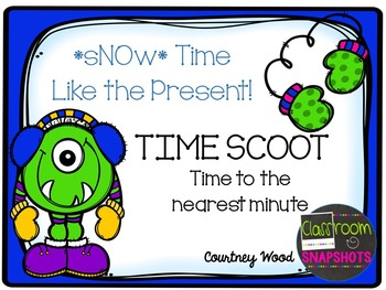 Time SCOOT to the nearest minute (Winter Themed)
