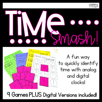 Time SMASH! Digital and Analog Clock Time Telling Games