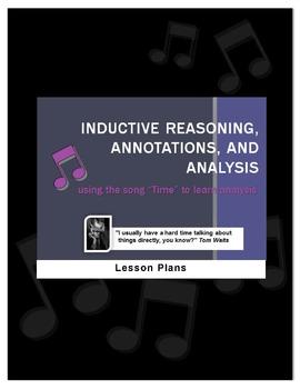 """Time"" SONG-teaching annotation,inductive reasoning,litera"