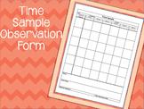 Time Sample Observation Form