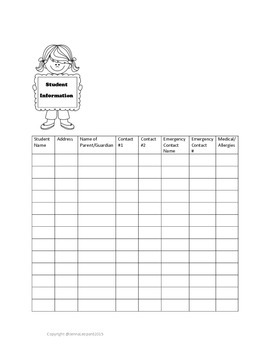 Time Saving Special Education Organizational Forms; IEP at a Glance; No Prep