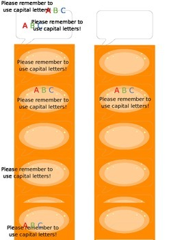 Time Saving Speech Bubble Stickers for Marking Capital Letters