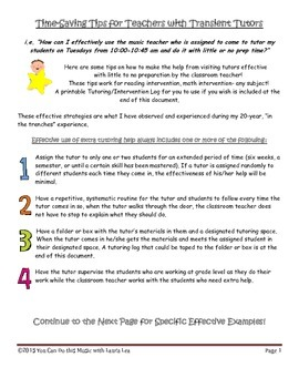 Time-Saving Tips for Teachers with Transient Tutors