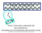 Chevron Time Schedule Bulletin Board Set