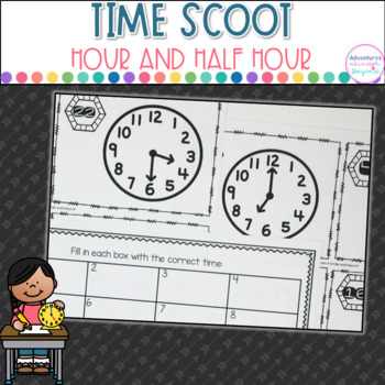 Time Scoot- Telling time to the Hour and Half- Hour