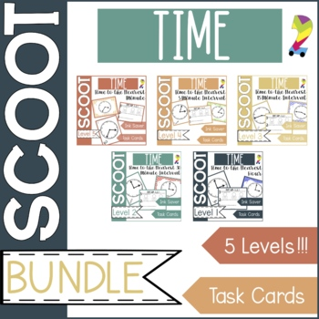Time Scoot Bundle Game/Task Cards (All 4 sets!)