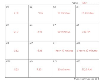 Time Task Card Scoot (Common Core Aligned) 3.MD.1