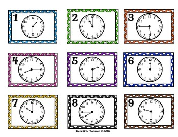 Time Scoot - Reading Analog Clocks to 15 Minute Intervals
