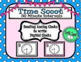Time Scoot - Reading Analog Clocks to 30 Minute Intervals