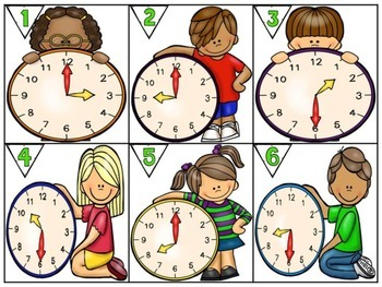 Time Scoot - focus on hour and half hour