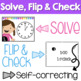 Time Scoot or Task Cards - Solve, Flip & Check