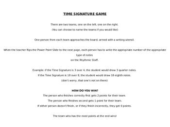 Time Signature 2-Team Game