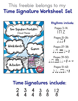 Free Time Signature Exit Ticket