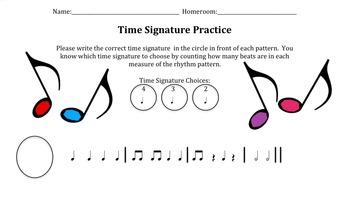 Time Signature Identification Practice