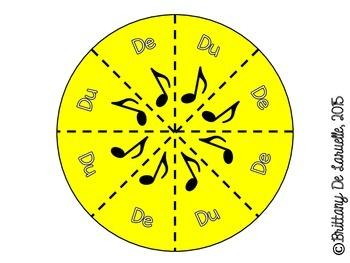 4/4 Time - Music Pies - Time Signature Manipulative - Freebie