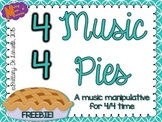 4/4 Time - Music Pies - Time Signature Manipulative - Freebie