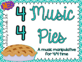 4/4 Time - Music Pies - Music Time Signature Manipulative